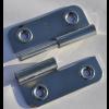 Türscharnier 52 x 65 mm, Links, aushebbar mit Bohrungen für 4 mm Senkkopfschrauben