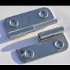 Türscharnier 52 x 65 mm, Rechts, aushebbar mit Bohrungen für 4 mm Senkkopfschrauben