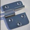 Türscharnier 70x 65 mm, Links, aushebbar mit Bohrungen für 4 mm Senkkopfschrauben