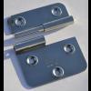 Türscharnier 70 x 65 mm, Rechts, aushebbar mit Bohrungen für 4 mm Senkkopfschrauben