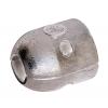 Zinkanode für Welle Ø 40 mm, Länge 75 mm, Befestigungsblech aus Metall eingegossen