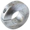 Zinkanode für Welle Ø 20 mm, Länge 20 mm, Befestigungsblech aus Metall eingegossen