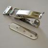 Hebelverschluß mit Rastplatte zum Verstellen +/- 4 mm, Bügel 40 mm, Spannbereich 22 mm, inklusive Gegenplatte, abschließbar