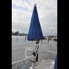 Sonnenschirm Ø 1500 mm                  Farbe: blau                 Material: Dralon                 UV Protect UPF 50+