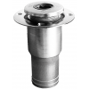 Aspiration port for waste water with cap Ø 98 mm, flush with 50 mm hose nipple, ISO 4567